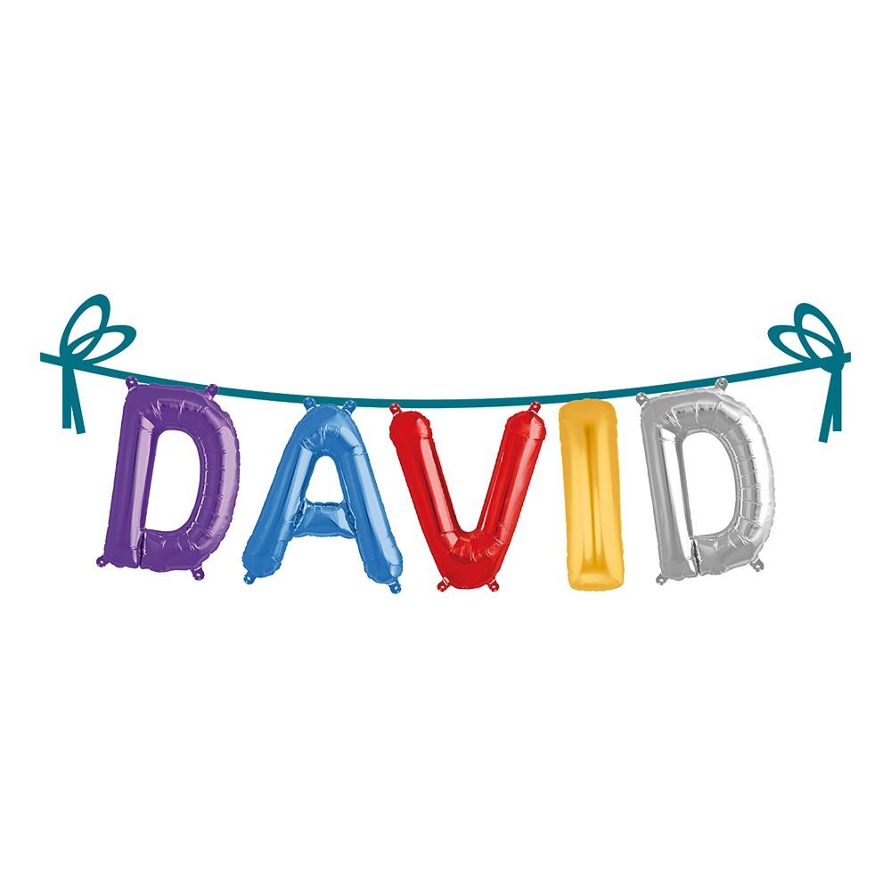 Ballonggirlang Folie Namn - David
