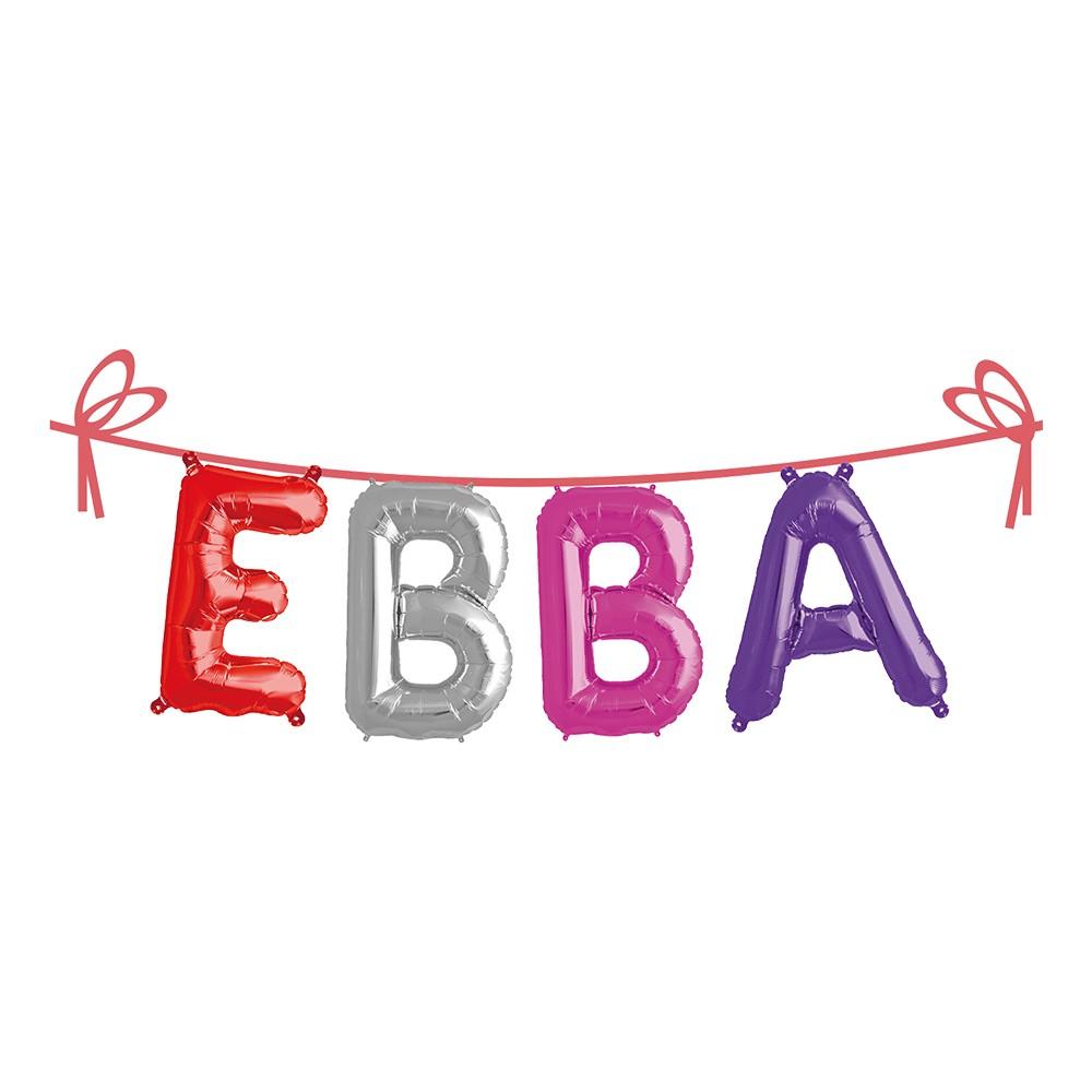 Ballonggirlang Folie Namn - Ebba