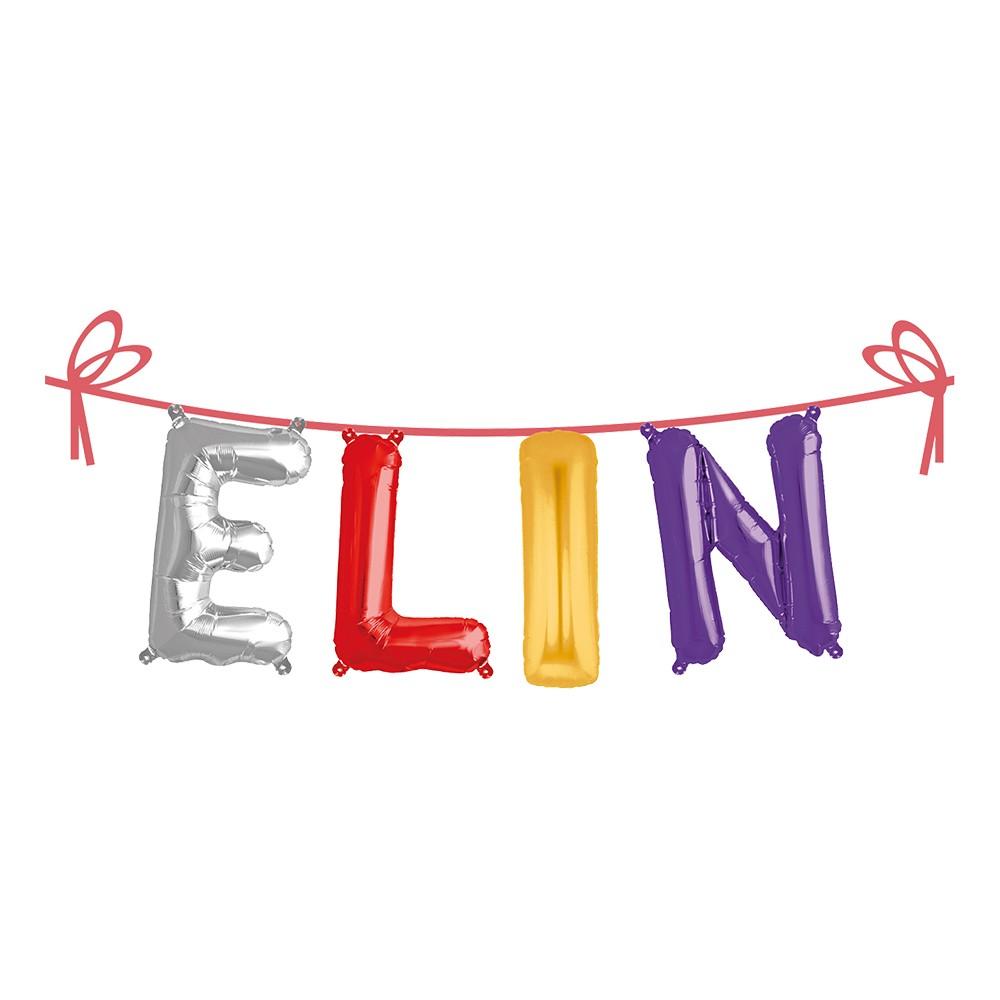 Ballonggirlang Folie Namn - Elin