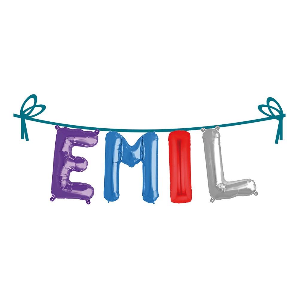Ballonggirlang Folie Namn - Emil