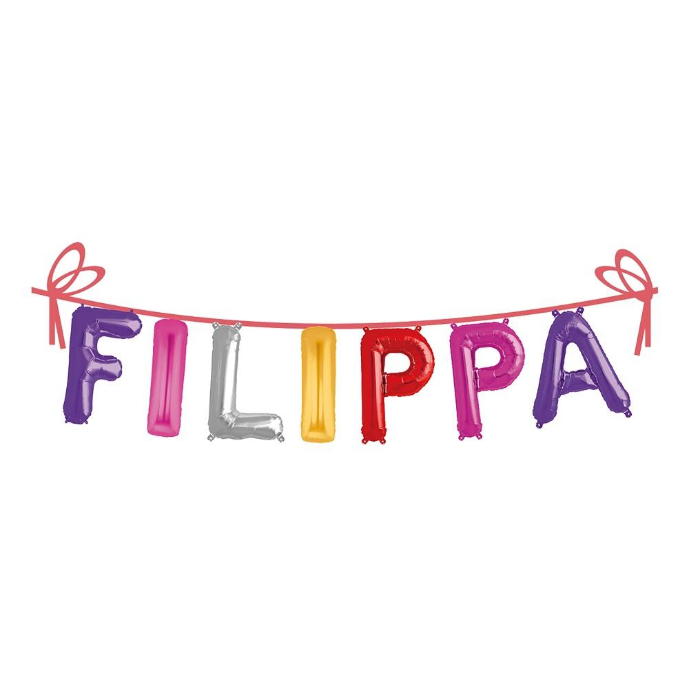 Ballonggirlang Folie Namn - Filippa