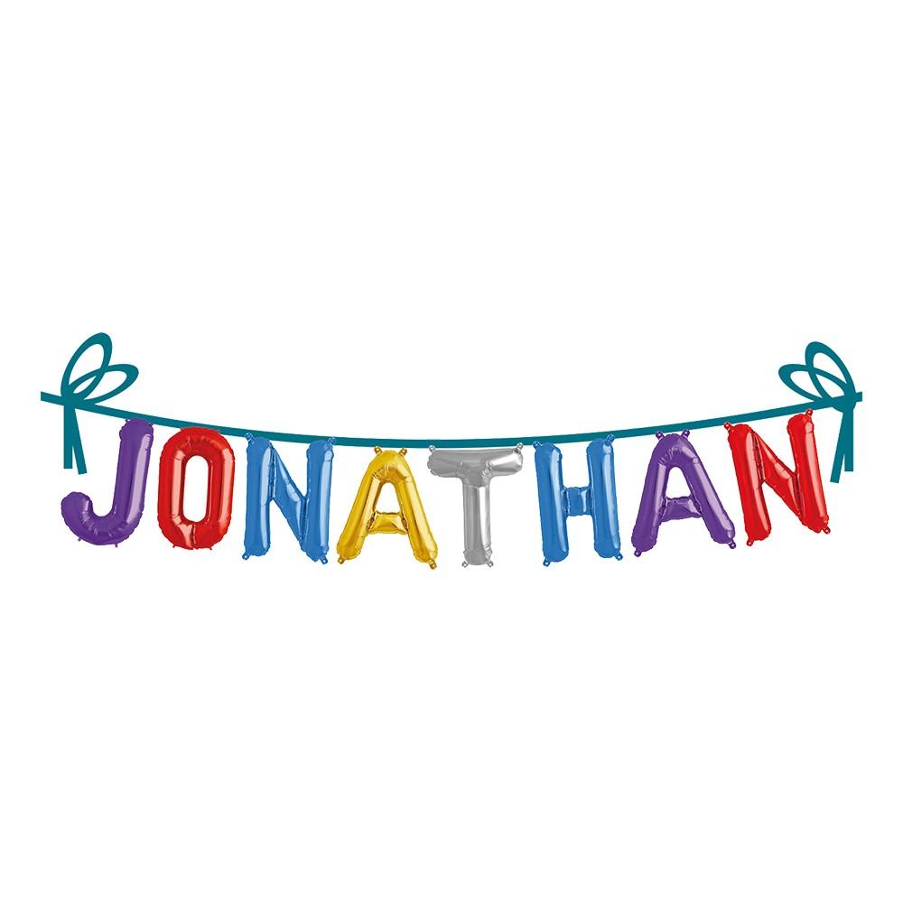 Ballonggirlang Folie Namn - Jonathan