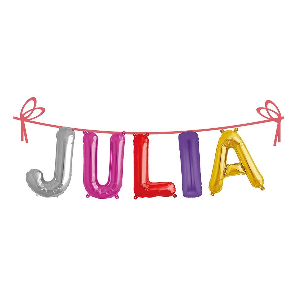 Ballonggirlang Folie Namn - Julia