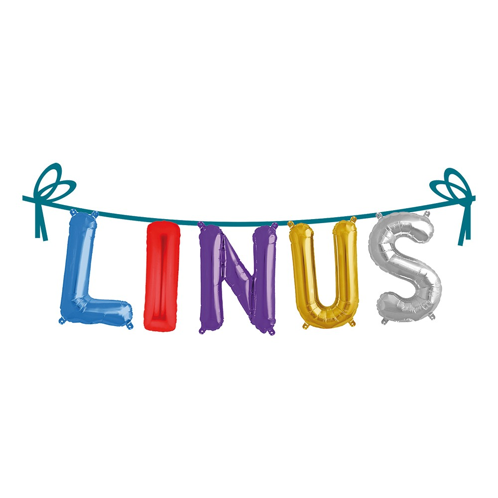 Ballonggirlang Folie Namn - Linus