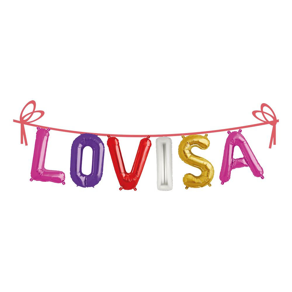 Ballonggirlang Folie Namn - Lovisa