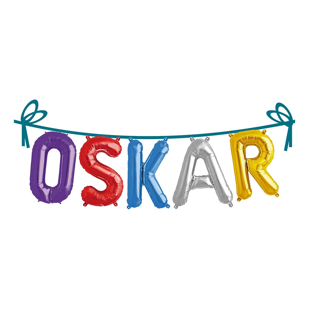 Ballonggirlang Folie Namn - Oskar
