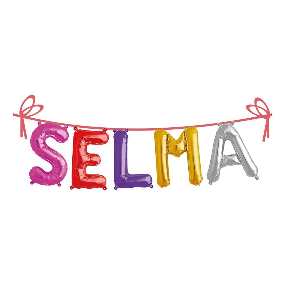 Ballonggirlang Folie Namn - Selma