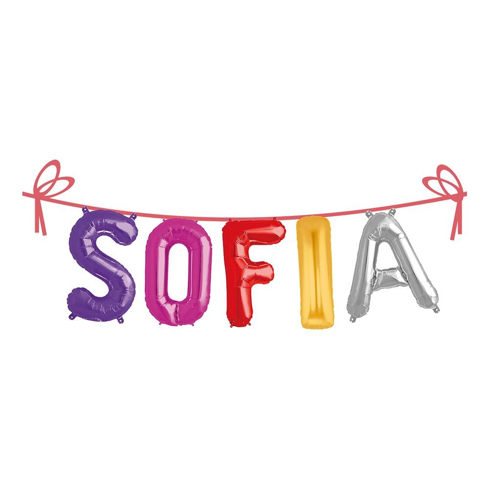 Ballonggirlang Folie Namn - Sofia