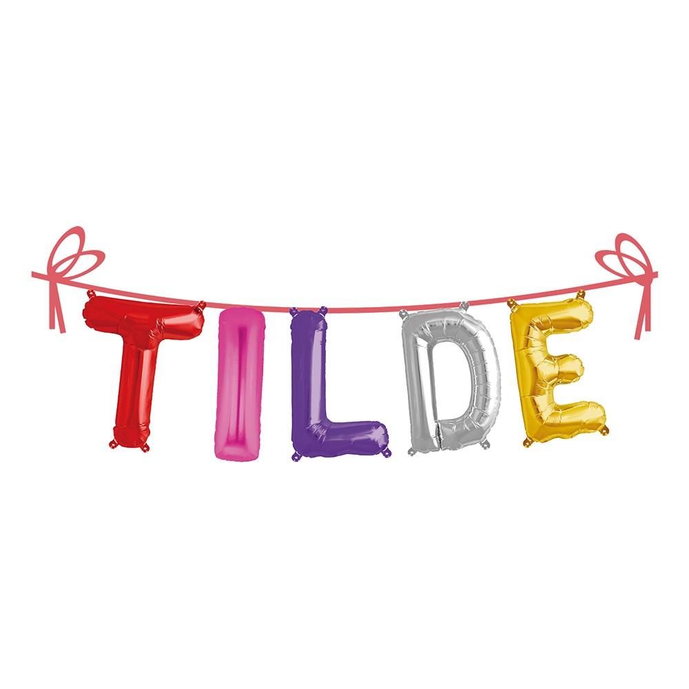 Ballonggirlang Folie Namn - Tilde