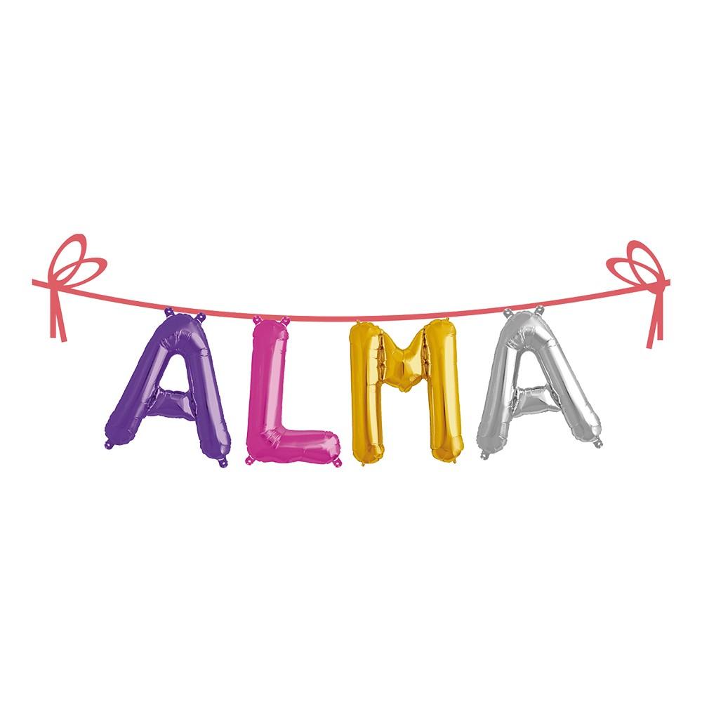 Ballonggirlang Folie Namn - Alma