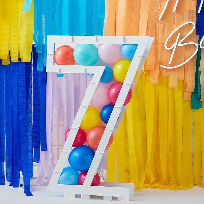 Ballongbox Siffra Vit - Siffra 7