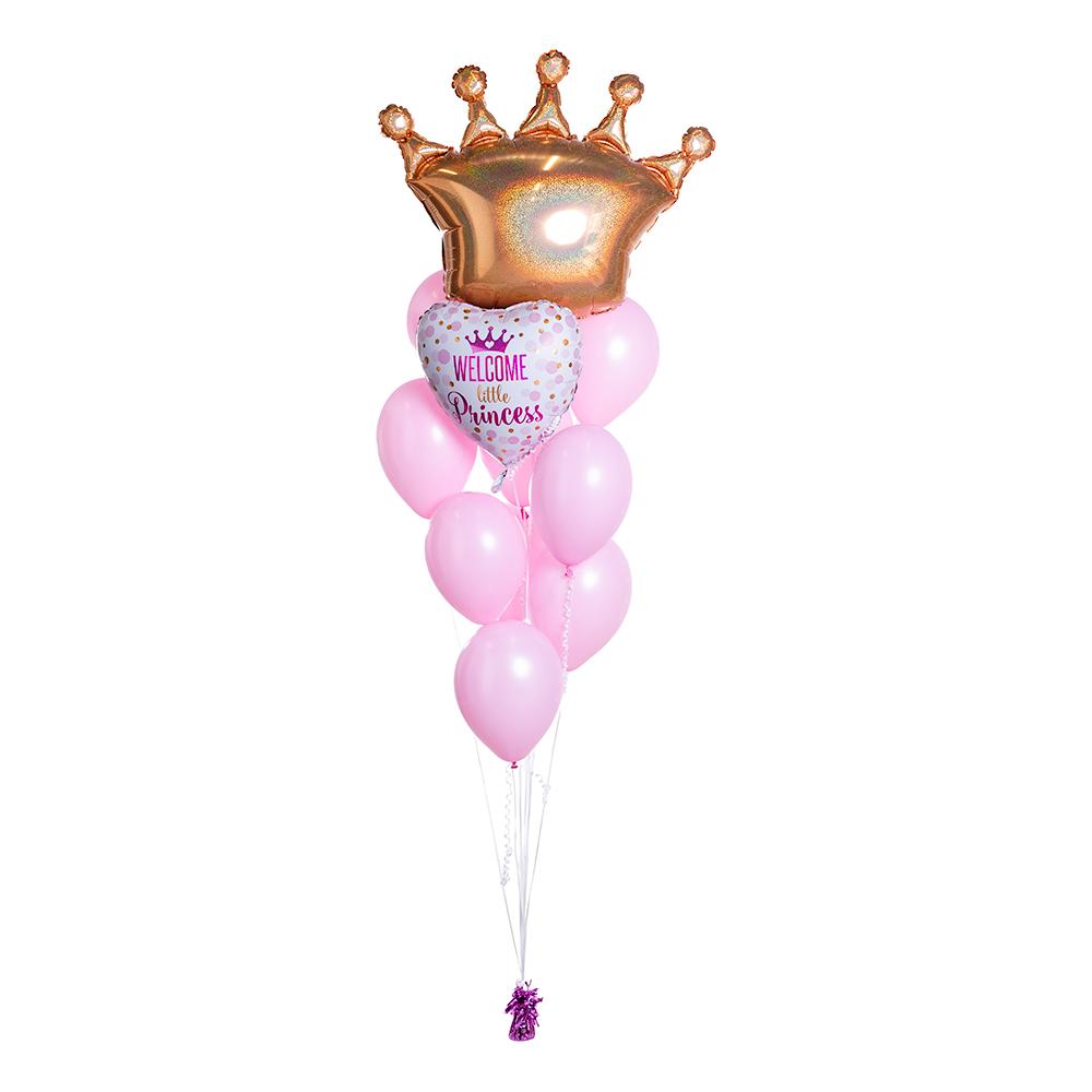 Ballongbukett Welcome Little Princess