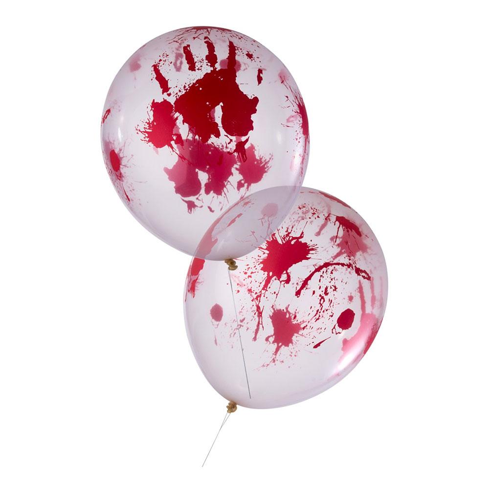 Heliumballonger - Ballonger Blodiga - 8-pack