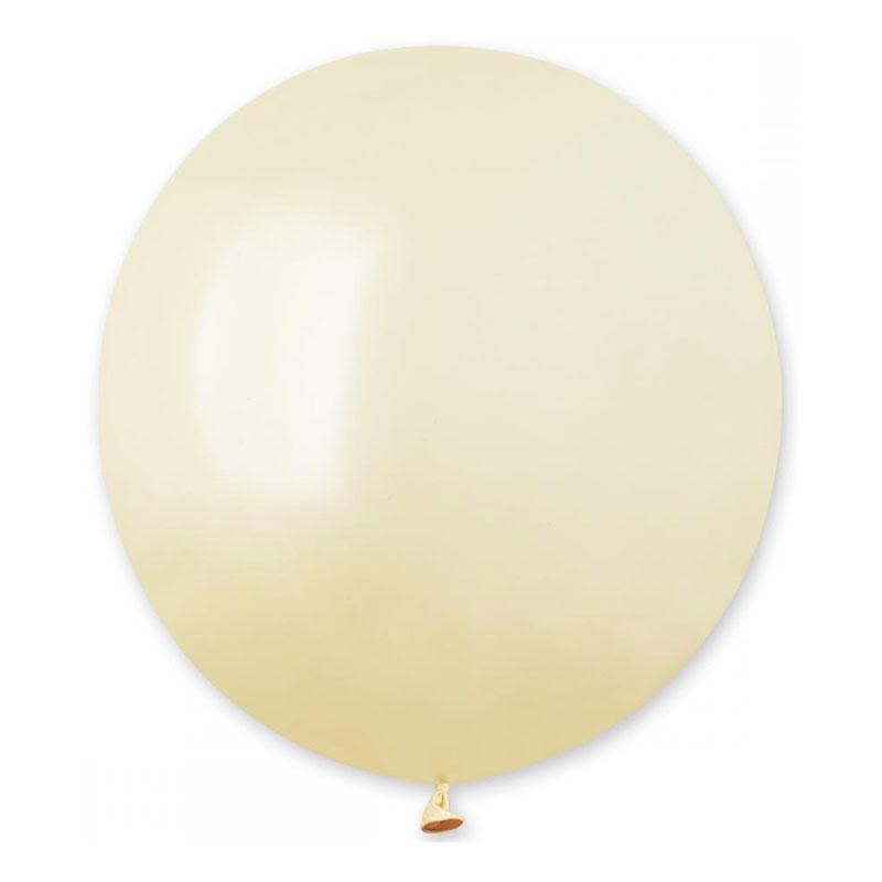 Ballonger Elfenbensvita Runda Stora - 25-pack