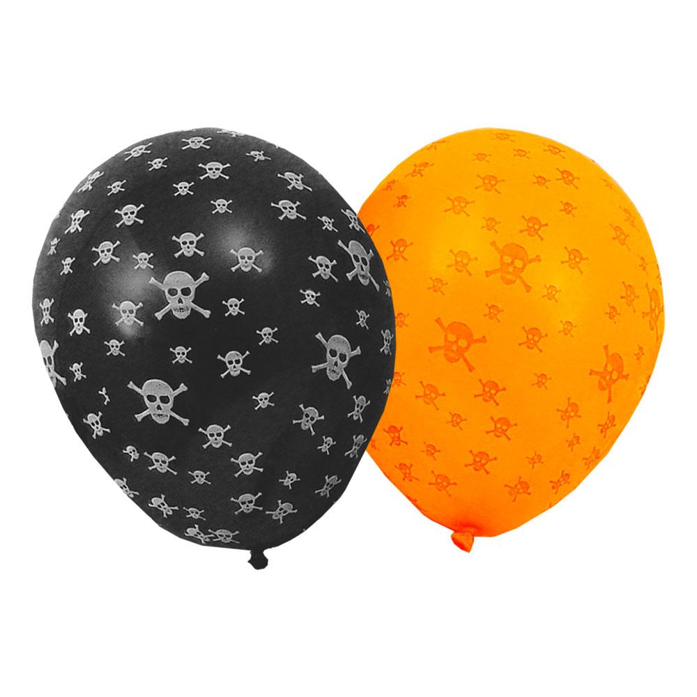 Ballonger Halloween Dödskallar - 8-pack