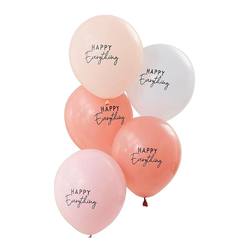 Ballonger Happy Everything Pastell - 5-pack
