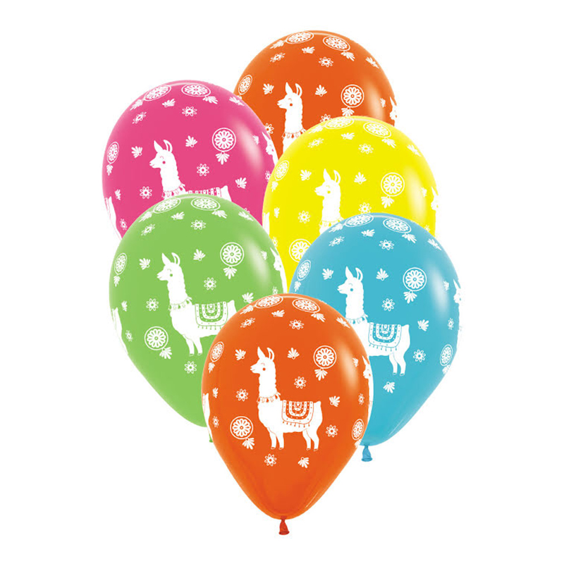 Heliumballonger - Ballonger Lama - 6-pack