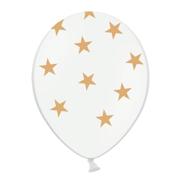 Ballonger med Guldstjärnor - 6-pack