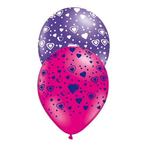 Ballonger med Hjärtan - 10-pack