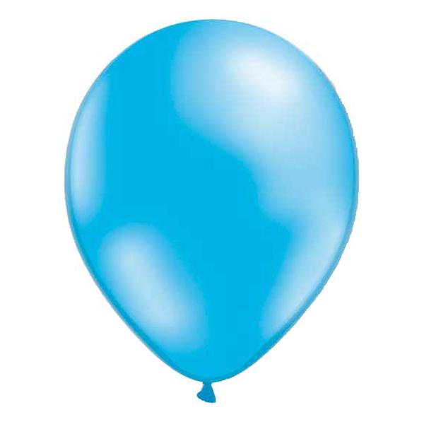 Ballonger Metallic Ljusblå - 25-pack