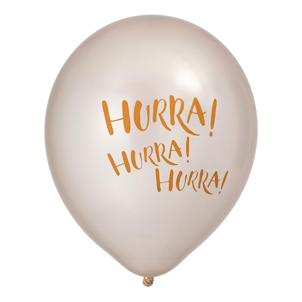 Ballonger Pärlemor Hurra! Hurra! Hurra! - 6-pack
