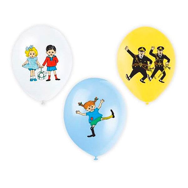 Ballonger Pippi Långstrump - 6-pack