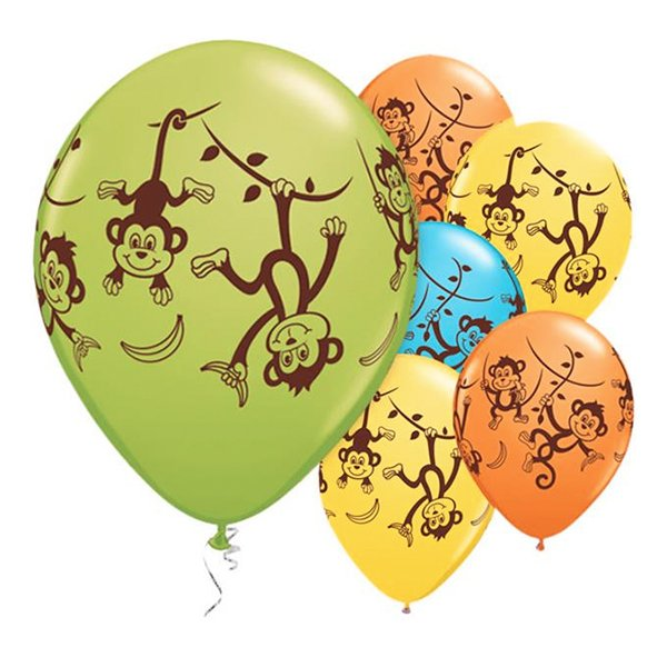 Ballonger Roliga Apor - 25-pack