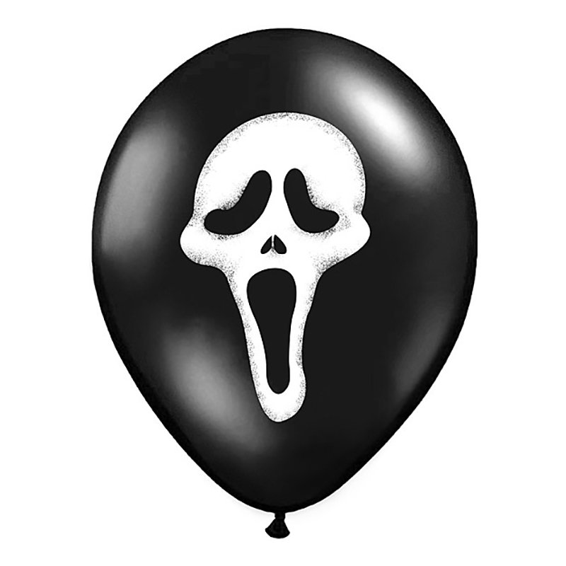Ballonger Scream Svart Pastell - 6-pack