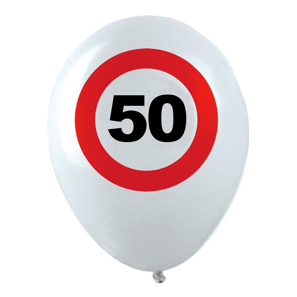 Ballonger Trafikskylt 50 - 12-pack