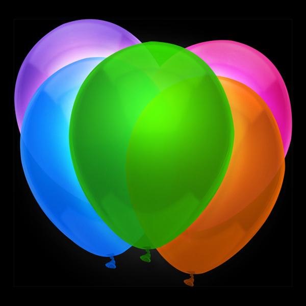Heliumballonger - Ballonger UV Neon - 12-pack