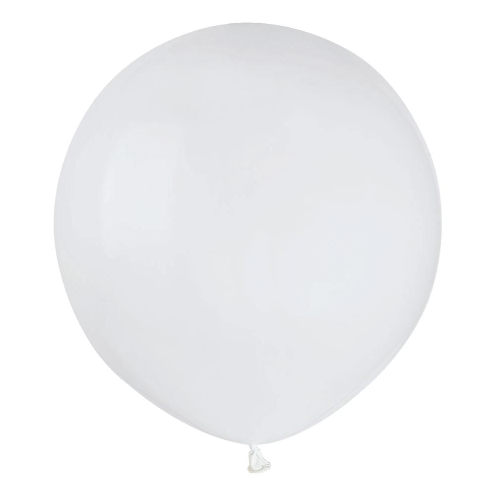 Ballonger Vita Runda Stora - 25-pack