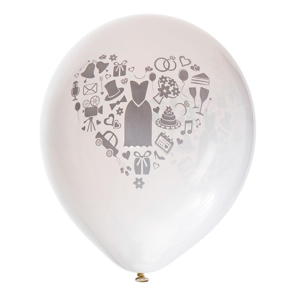 Heliumballonger - Ballonger Wedding - 8-pack