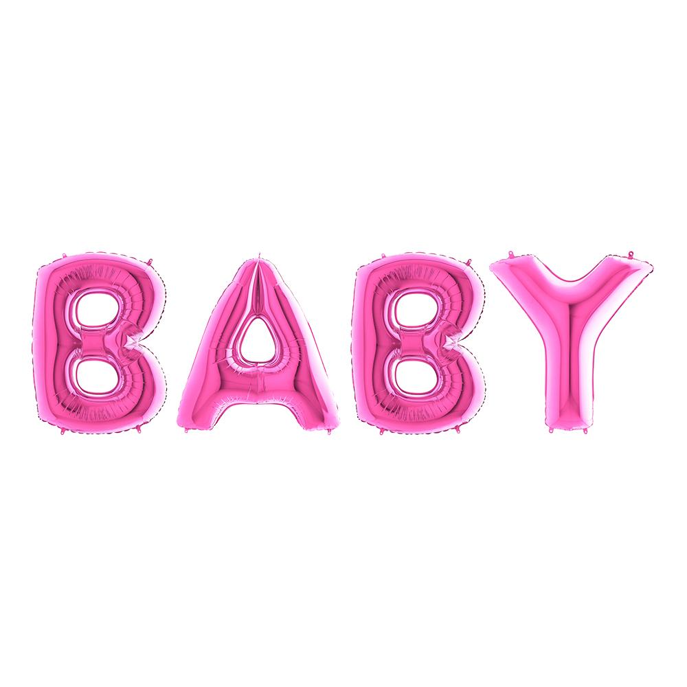 Ballonggirlang Baby Rosa Metallic Stor