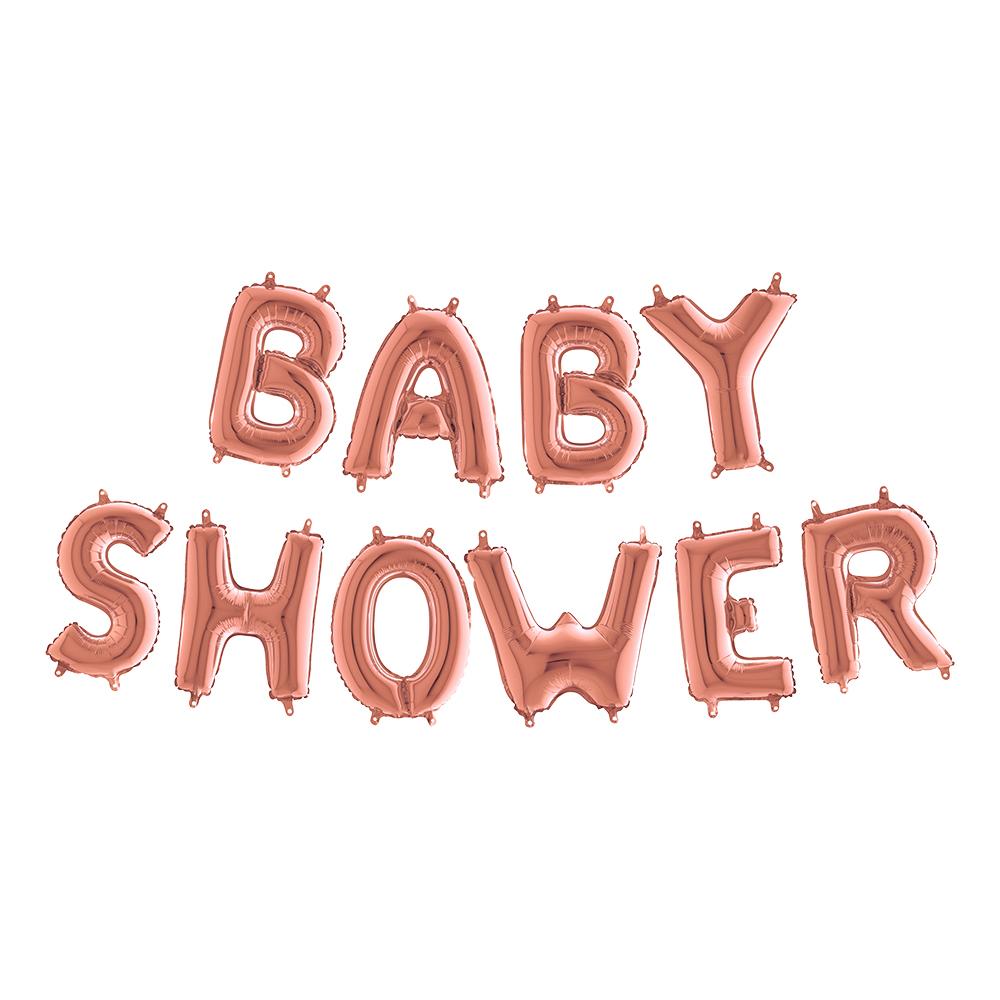Ballonggirlang Baby Shower Roséguld Metallic