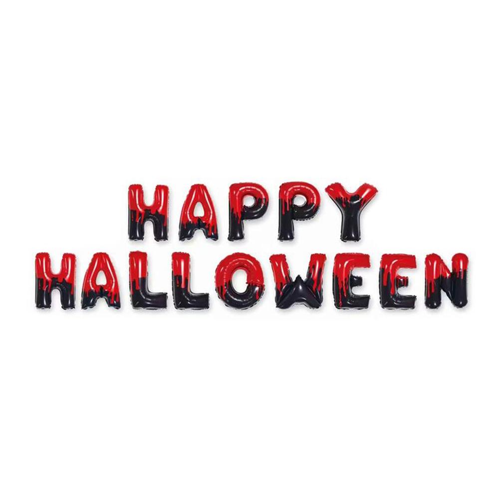 Ballonggirlang Happy Halloween Röd/Svart