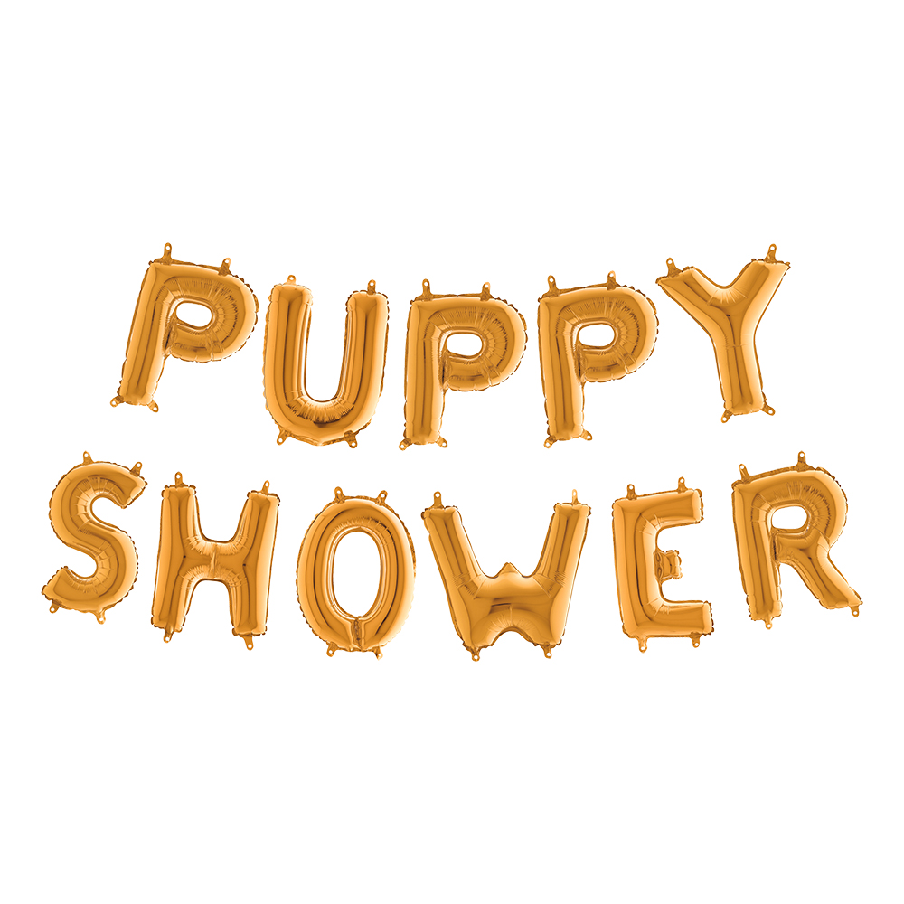 Ballonggirlang Puppy Shower Guld Metallic