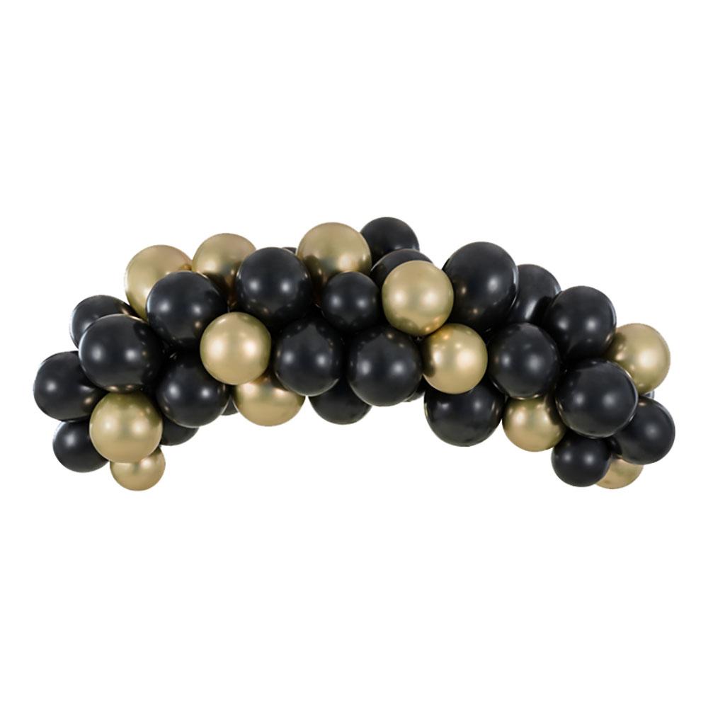 Ballongbåge Svart/Guld - 200 cm