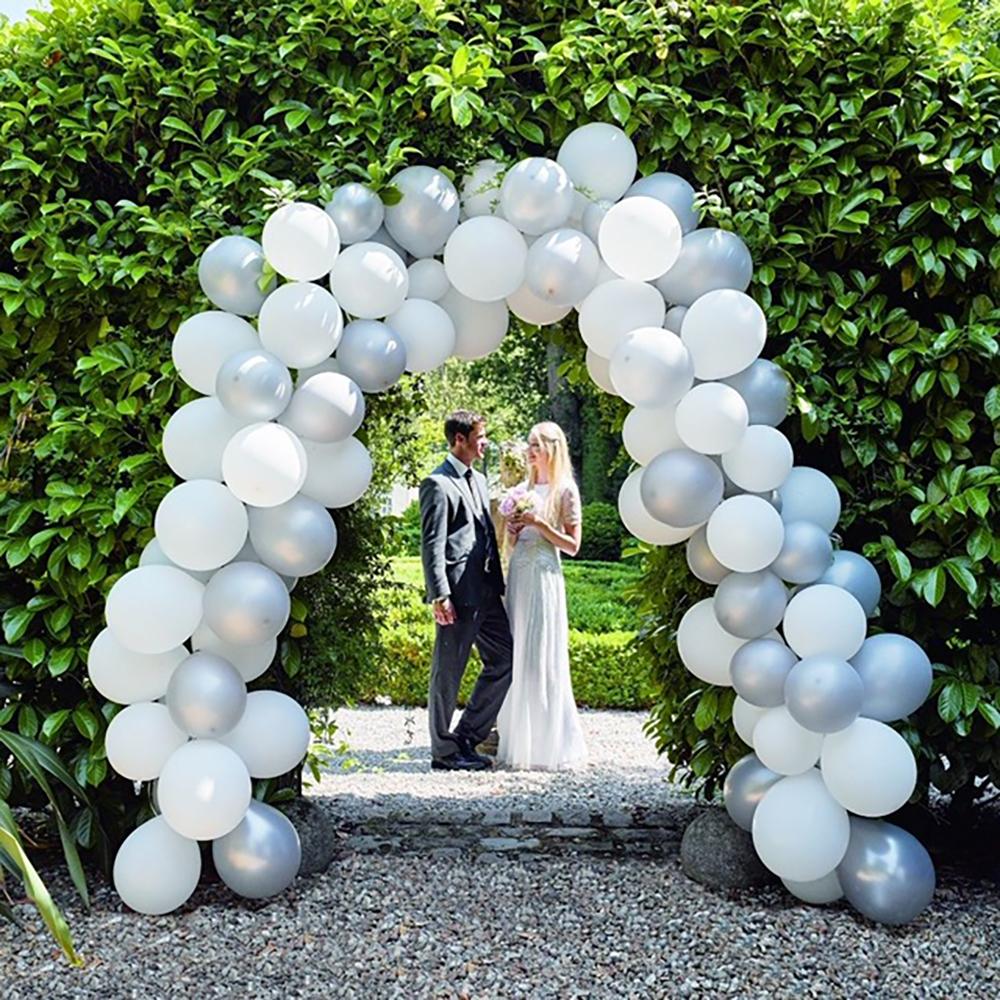 Ballongkit Bröllop Vit/Silver