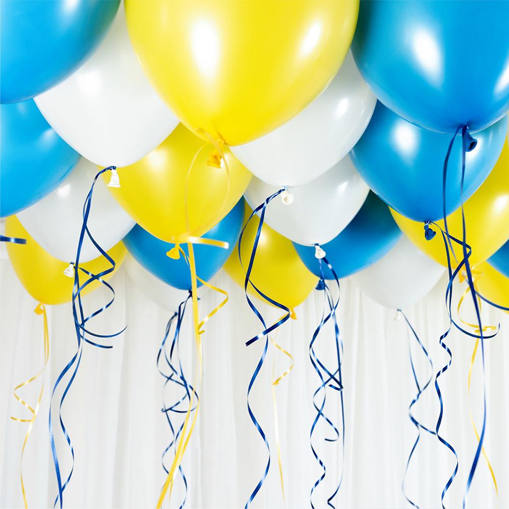 Takballonger Blå/Gul