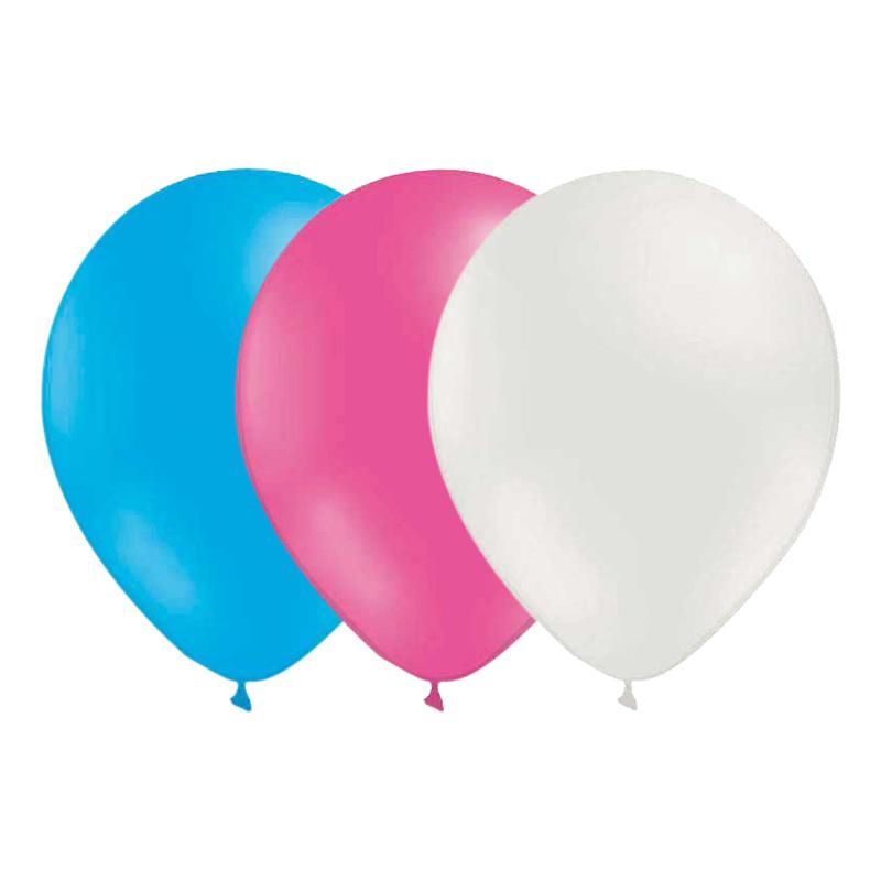 Ballongkombo Ljusblå/Rosa/Vit - 15-pack