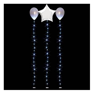 LED-slinga för Ballonger - Vit 1.8 m