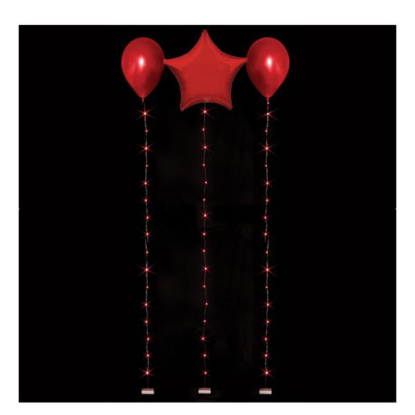 LED-slinga för Ballonger - Röd 1.8 m
