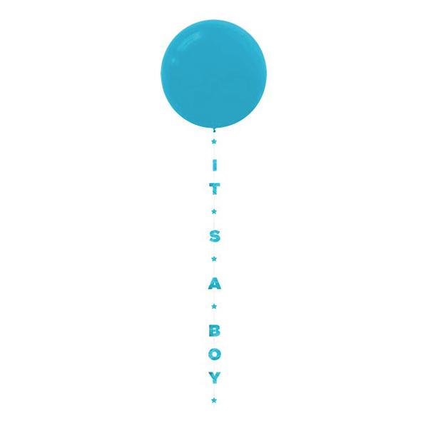 Ballongsvans Its A Boy Blå - 1-pack