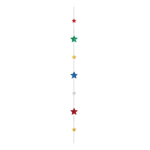 Ballongsvans Stjärnor Glitter Flerfärgad