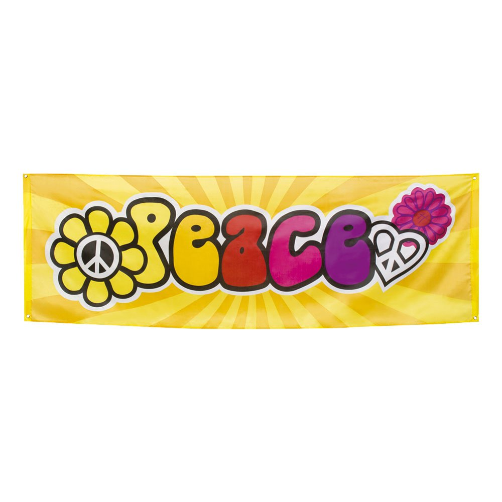 Banderoll Peace   Hem//Teman//Färger//Flerfärgad   Partyoutlet