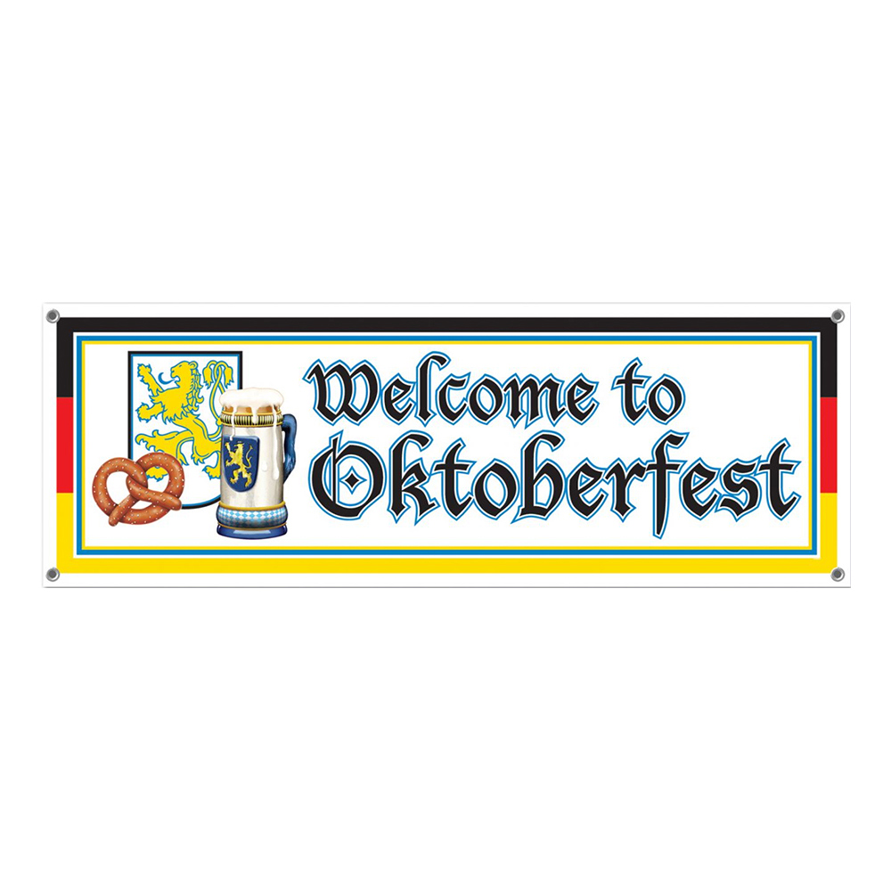 Banderoll Welcome to Oktoberfest