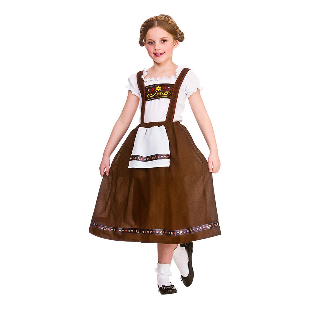 Bavarian Flicka Maskeraddräkt - Large (8-10 år)