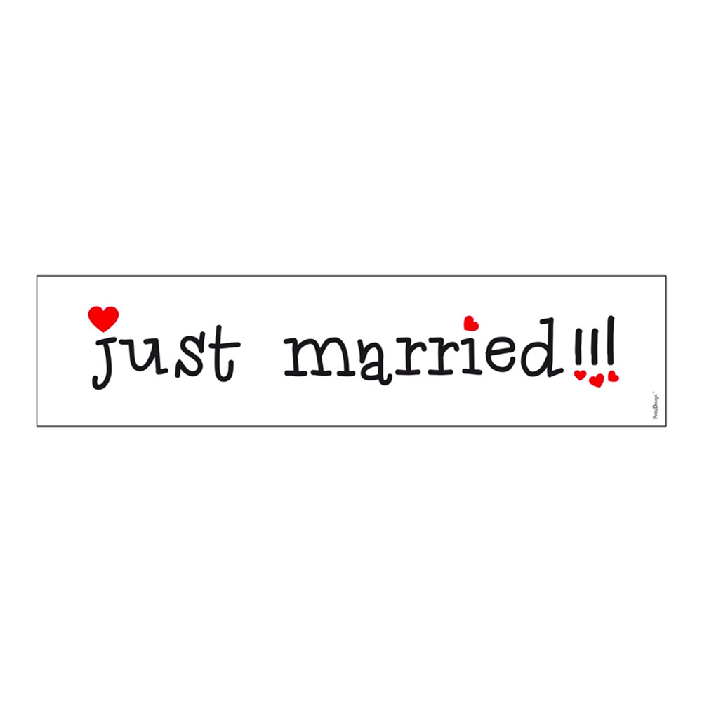 Bilskylt Just Married