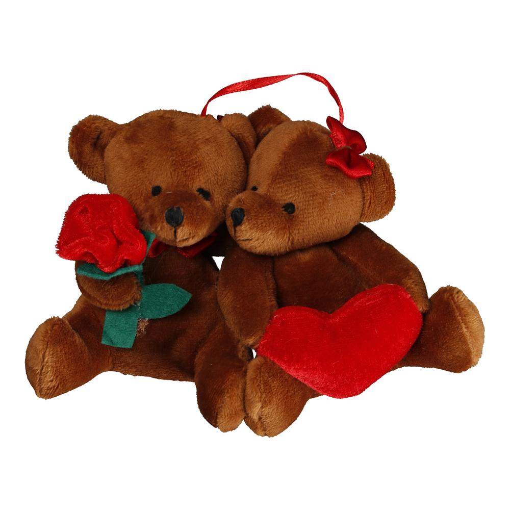 Björnpar med Ros och Hjärta