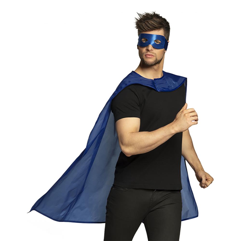 Blå Superhjälte Kit Maskeraddräkt - One Size